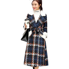 Outerwear Woolen Coat Jacket Female Slim Elegant Winter Fashion Women Long-Tweed New