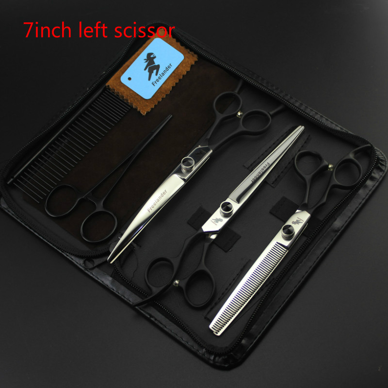 7 INCH Black Hand Left Hand  Professional Pet scissors sets,JP440C,,Straight & Thinning & Curved scissors sets ,3PCS/package7 INCH Black Hand Left Hand  Professional Pet scissors sets,JP440C,,Straight & Thinning & Curved scissors sets ,3PCS/package