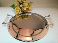 2015 New Design Hot Sale Round Stainless Steel 18 8 Service Tray Home And Party Use