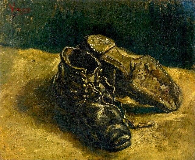 Un Sin De Y Gogh En Por Vincent Zapatos Van Par Pintura Marco q7wrTqxS