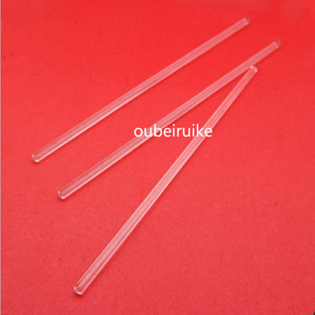 5PCS Glass Stir Bar Anticorrosive Stirring Rod Medical Mixing Muddler Transparent Guide Rod 30CM length Bartender Rod