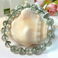 10mm Genuine Natural Green Phantom Quartz Bracelets For Women Femme Stretch Round Crystal Bead Charm Bracelet