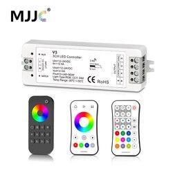 MJJC RGB RGBW LED tira controlador RF 12 v 24 v 2,4G inalámbrico RGBW controlador remoto 12 volt 5 años de garantía
