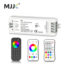 MJJC RGB RGBW LED Strip Controller RF 12v 24v 2.4G Wireless RGBW Remote Controller 12 volt 5 Years Warranty