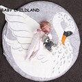 Alfombra de juegos manta de bebé de algodón Suave alfombra de juegos de bebé nadando juguete de Cama Infantil 95 cm bebé recién nacido accesorios de fotografía manta