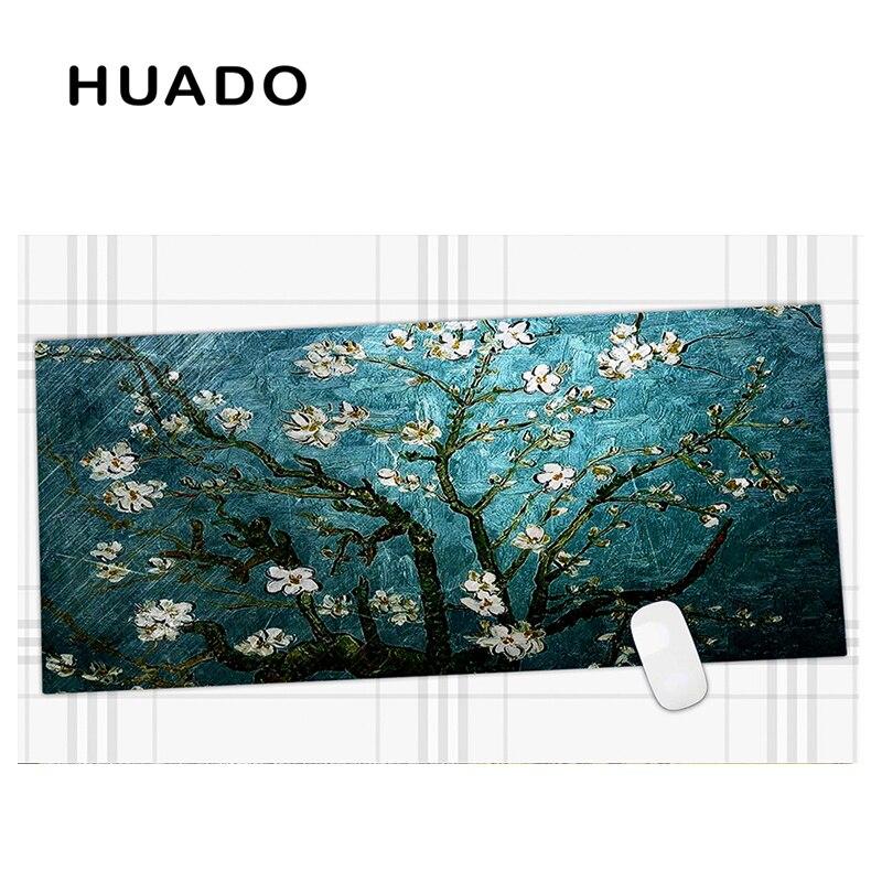 600x450mm Bleu Fleurs de Jeu Prolongées souris pad Grand Tapis de Souris Grande Taille Tapis de Bureau pour le travail de bureau/overwatch