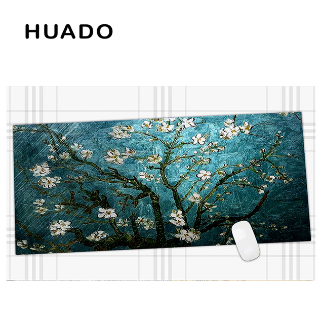 600x450mm Blue Flowers Extended Gaming mouse pad Large Mousepads Big Size Desk Mat for office work/ overwatch