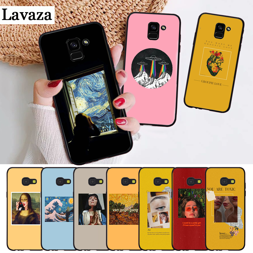 Lavaza Great art aesthetic van Gogh Silicone Case for Samsung A3 A5 A6 Plus A7 A8 A9 A10 A30 A40 A50 A70 J6 A10S A30S A50S