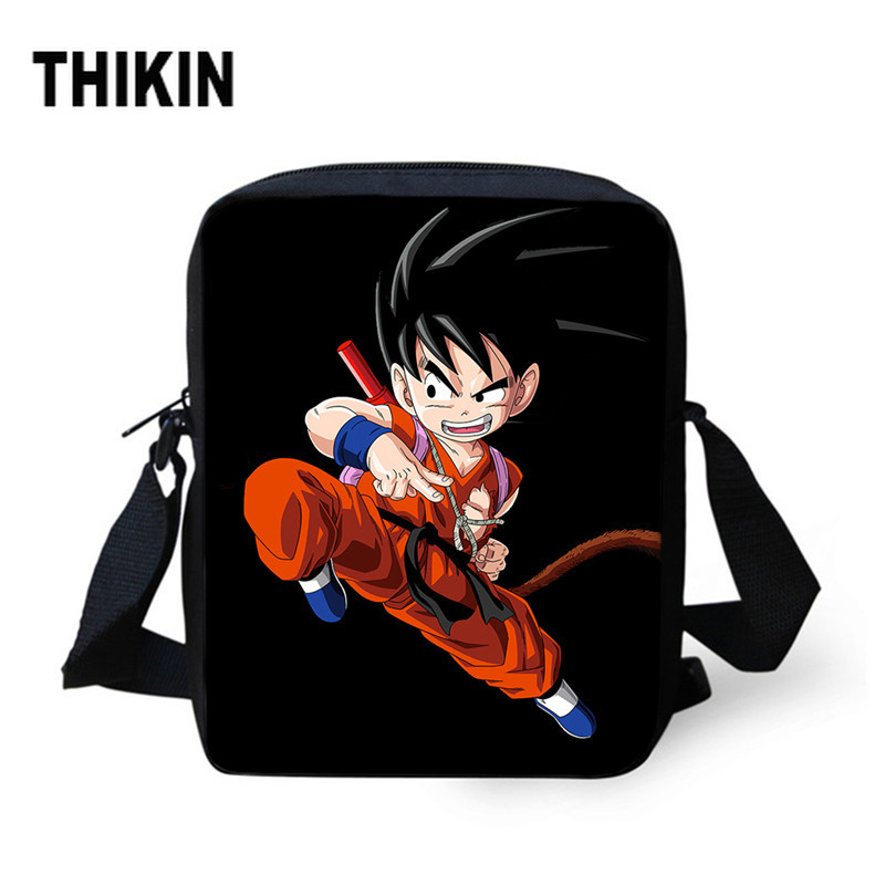 THIKIN Anime Dragon Ball Bags Son Goku Crossbody Bag For Students Casual Messenger Bag School Gift Boys Girls Study Shoulder Bag