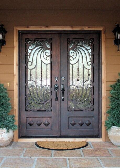 Wholesale Wrought Iron Doors Iron Double Doors Iron Doors Iron Front Doors For Sale  Hc20