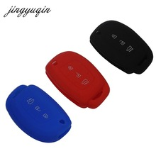 jingyuqin Silicone Car Flip Key Cover Case For Hyundai i10 i20 IX25 IX35 IX45 Elantra Accent Car Styling