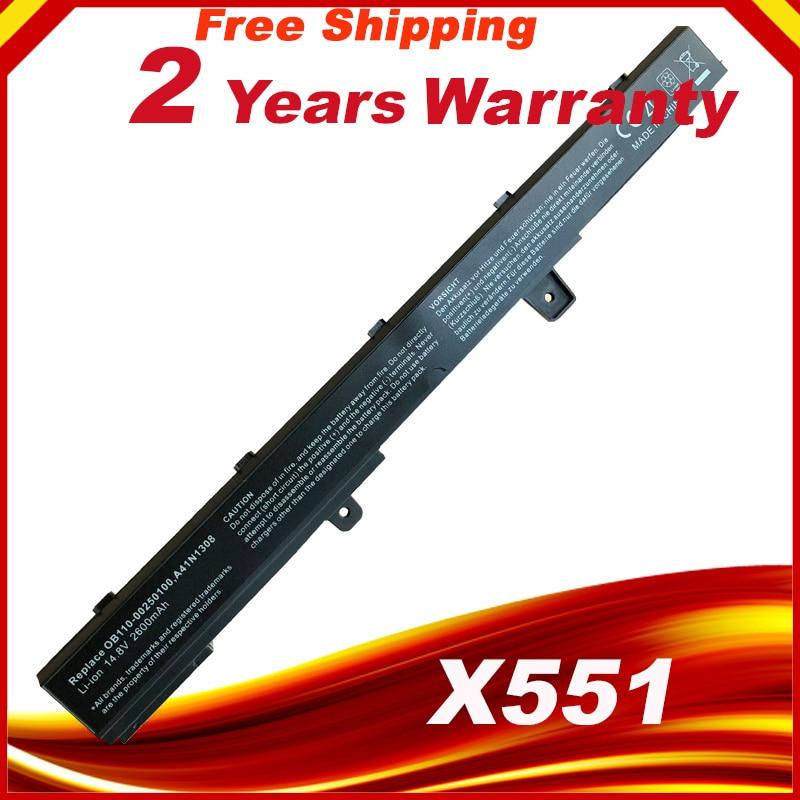 Laptop Batterie Für ASUS X551C X551CA X551M A41N1308 A31N1319 0B110-00250100M X45LI9C YU12008-13007D X451CA X551CA X551CA-SX024H