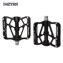 цена на MZYRH X6 Aluminum Alloy 3 Sealed Bearing Mountian Bike Pedals Pedals MTB Bicycle Carbon Fiber Big Tread Pedals for Bicycle parts