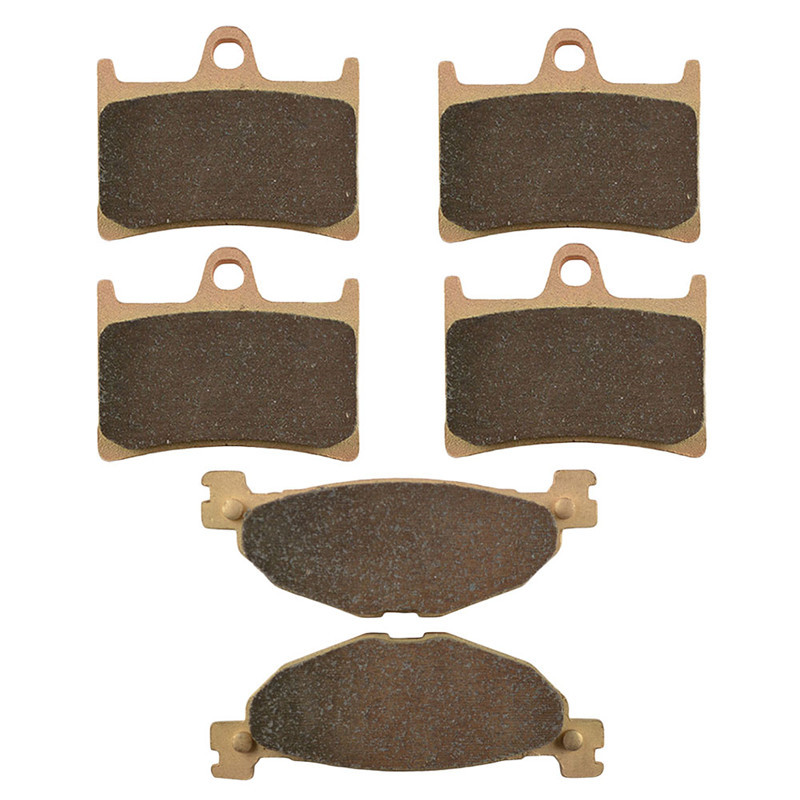 Motorcycle Parts Front & Rear Brake Pads Kit For YAMAHA XV1700 XV 1700 Road Star Warrior PC models 2004-08 Copper Based Sintered motorcycle parts copper based sintered motor front