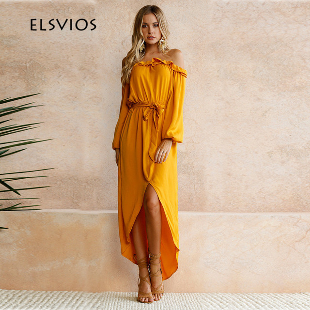 Casual Maxi Dress with Sleeves and Splits