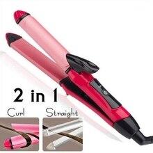 2 em 1 modelador de cabelo turmalina cerâmica curling ferro ferramentas estilo