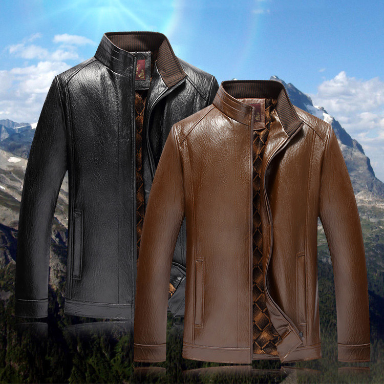 New arrive brand Mens Leather Jacket Men Coats High Quality PU Outerwear Men 39 s Leather Jackets Faux Fur Male leather coats in Faux Leather Coats from Men 39 s Clothing