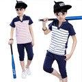 Conjunto de roupas T-shirt + calças curtas Infantis de Verão Meninos T Shorts definir Crianças t Shirt Set Roupas Crianças meninos Terno ocasional Outfit