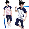 clothing set T-shirts+short pants Summer Kids Boys T Shirt Shorts Set Children t Shirt Clothing Set Kids boys casual Suit Outfit