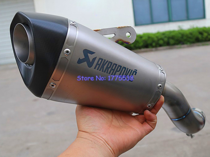 Titanium Alloy Z900 Exhaust Motorcycle Muffler Exhaust Slip-on Escape for Z900 Motorbike Exhaust Muffler Damper with DB Killer