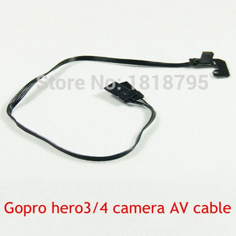 (CFQ) Quadcopter kit Gopro hero3 hero4 camera AV output cable brushless gimbal for FPV RC Quadcopter Drone diy