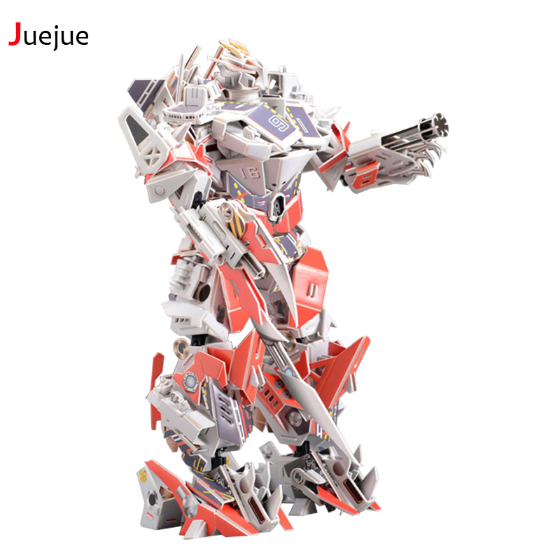 Hot SH002 3D Puzzle Paper Aircraft Carrier King Kong jigsaw puzzle toys for children diy handmade Paper jigsaw puzzles super space aircraft style diy 3d paper foam puzzle multicolored