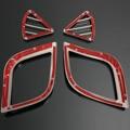 4 unids por sistema ABS chrome recortar accesorios Del Coche decoración anillo de salida de interior Para Hyundai Solaris Verna