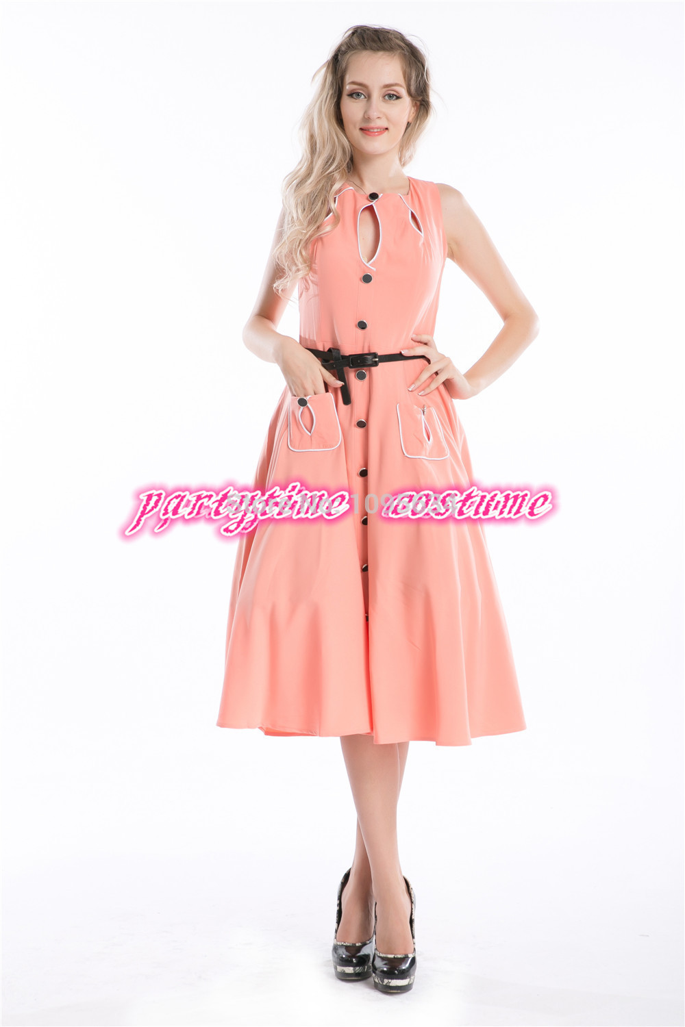Buy vintage tea dress pink and get free shipping on AliExpress.com