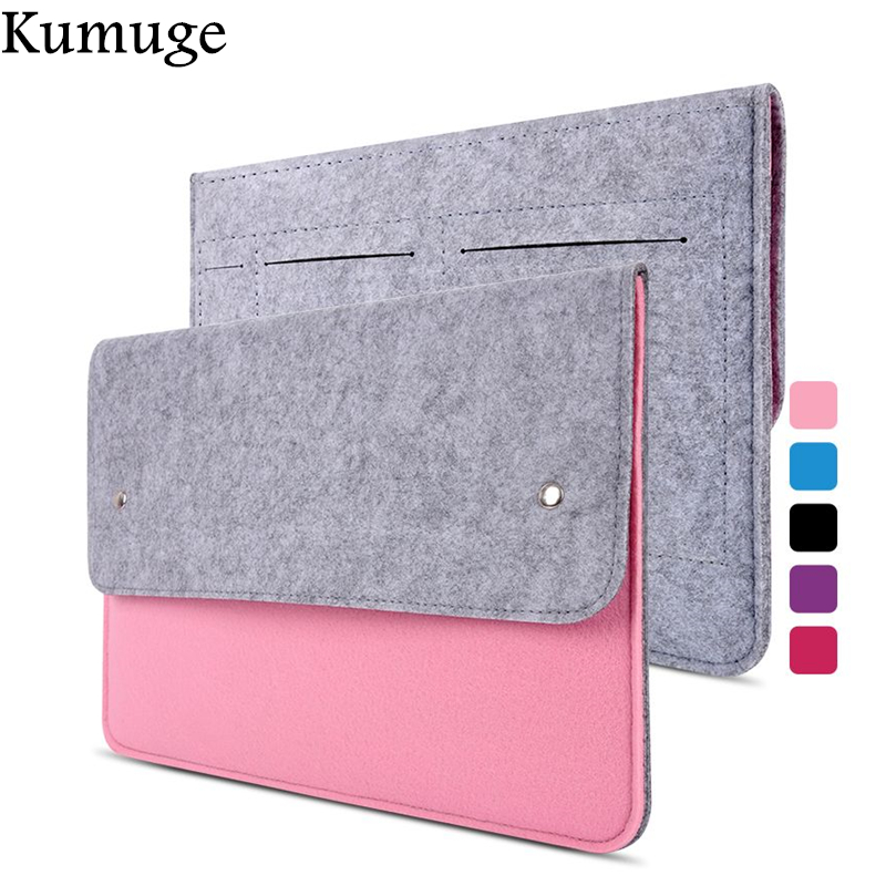 11 13 14 15.4 15.6 Fashion Wool Felt Laptop Bag Pouch Case for Macbook /Lenovo/HP/Dell Notebook Cover for Macbook Air 13 Sleeve(China)