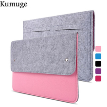 Fashion Wool Felt Laptop Bag Sleeve for Macbook Pro Air Retina 11 13 15 Inch Protector Case for Mac Office Lady Laptop Carry Bag