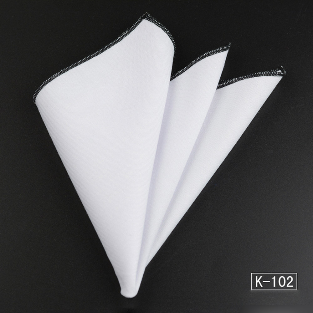 Men/'s High Quality Handkerchief White Colorful Rolled Edge Hanky Pocket Square