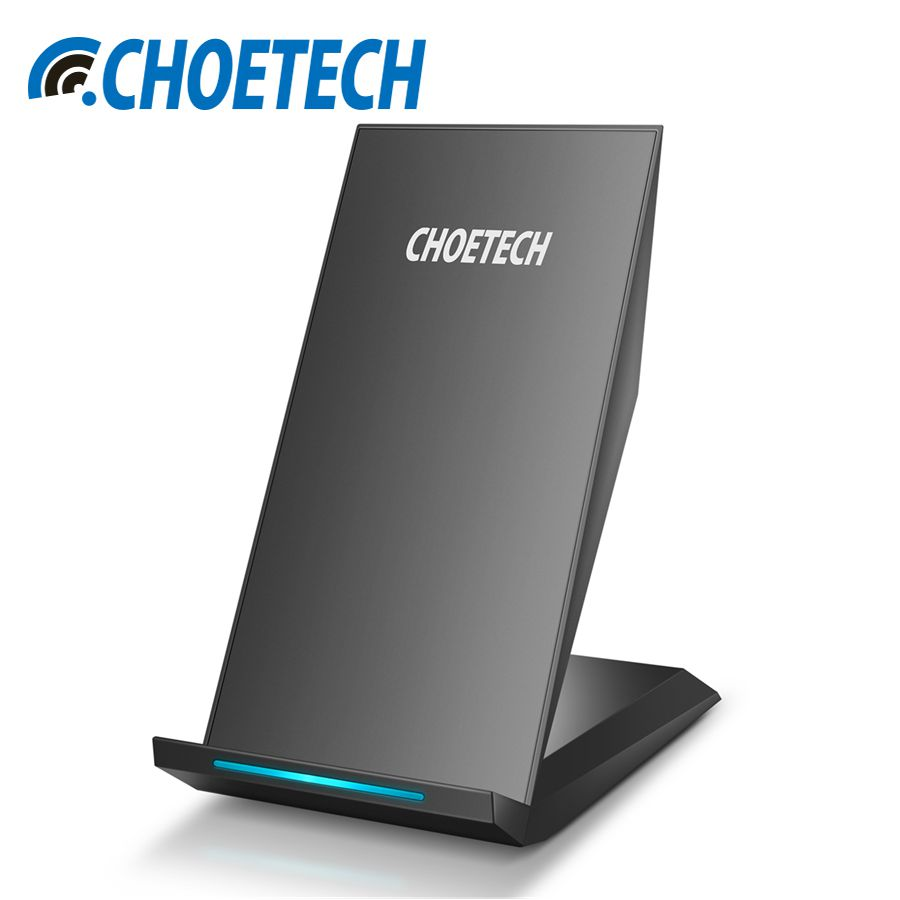 CHOETECH 5V2A Wireless Charger For Samsung S8 S7 S6 Edge 2 Coils Fast Wireless Charging Holder Stand Charger For iPhone X 8 Plus