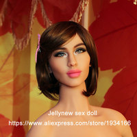 114# Silicone Sex Doll Head Tongue Oral Depth 13 Cm Mannequin Love Doll Heads For Body 135,140,145,153,158,161,163,165,168 Cm
