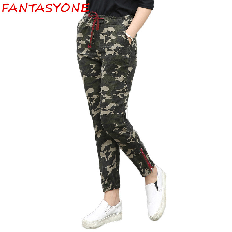 Beautiful Womenu0026#39;s Casual Long Pants Army Cargo Jogger Military Camouflage Harem Trousers | EBay