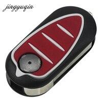 Jingyuqin se encaixa para alfa romeo mito giulietta gto 159 3 botão remoto flip dobrável chave fob caso escudo lâmina
