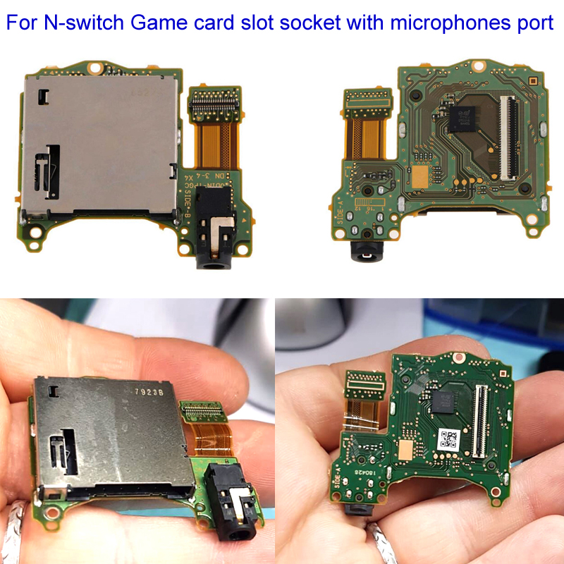 2019 Original Game Card Slot Socket With Headset Headphone Board Replacement For Nintend Switch NS Switch Repair Parts