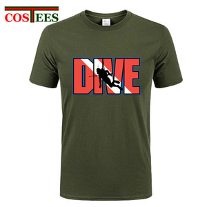 Скидка для взрослых, футболка для дайвинга, 3D брендовая одежда, хлопковые футболки с коротким рукавом, забавные мужские футболки, топы, XS-XXXL, ...