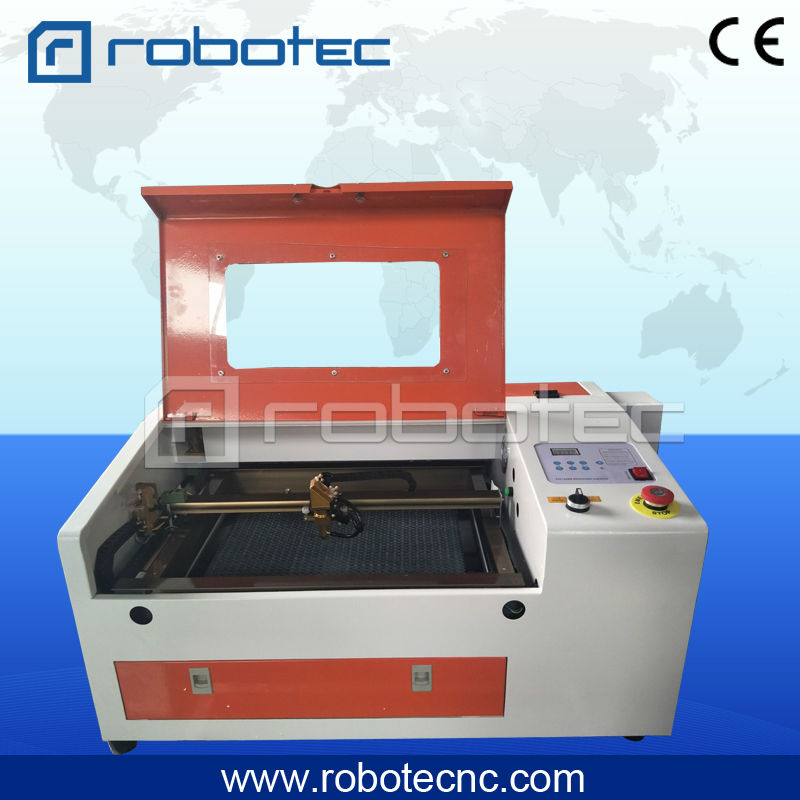 best price RT 4030 CO2 Laser Cutting Machine with digital function and honeycomb, cnc  laser cutter best price 5pin cable for outdoor printer