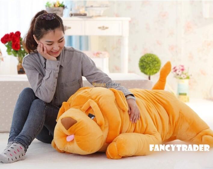 ФОТО Fancytrader 2015 New High Quality Kawaii Dog 47'' 120cm Super Cute Plush Shar Pei Dog Gift, Gift for Child Free Shipping FT90243