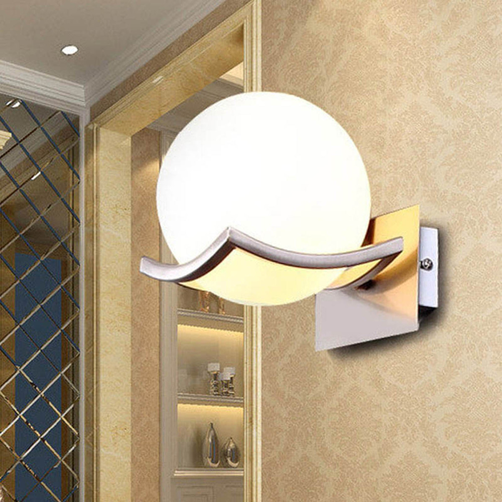 New arrival unique and novelty led wall lamps glass ball wall lights for home E27 AC85 265V FREE SHIPPING