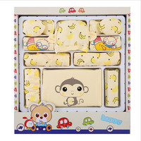 Newborn Baby Clothing Set Gift Banana Monkey Cartoon Printed Underwear Suit For Spring Summer Autumn 100
