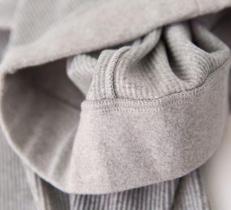 Women Black Gray Leggings Skinny Pants Kawaii Cute Rib Legins Girls Comfort Cotton Spandex Stretch Legging