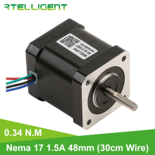 Rtelligent Nema 17 0.34NM (48.1oz.in) stepper motor 48mm 1.5A stepping motor for 3D printer motor
