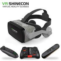 2019 Shinecon Casque 9.0 VR Réalité Virtuelle Lunettes 3D Lunettes Google  Carton VR Casque 282a8354d6fd