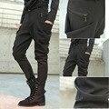 2017 Grandes estaleiros calças M-5XL dos homens Harem Pants calças masculinas a tendência magro calça jeans boot cut dos homens não-mainstream calças de roupas masculinas