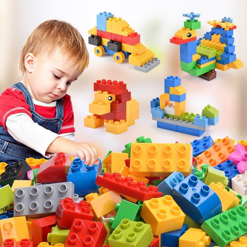 102 piezas de gran tamaño bloques de construcción ladrillos ciudad creativa con educativos Compatible con legoing Duploe juguetes para niños regalos