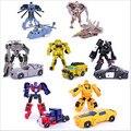 7 unids/set Transformación Kids Classic Robot Coches Juguetes Para Niños Figuras de Acción y Juguetes FW061