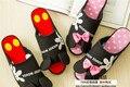 Микки Минни Весенние домашние тапочки, обувь, голова рыбы, с открытым носком тапочки, женские Тапочки