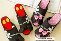 Mickey Minnie Spring home slippers, shoes, fish head, open-toed slippers, Women's Slippers