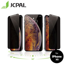 JCPAL Preserver Privacy Glass Screen Protector for iPhone XS/X Anti Peeping Tempered Full Cover Film Protection 9H 54271